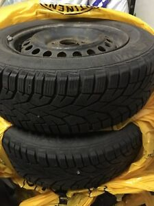 Gislaved winter tires 195/65/15 with rims