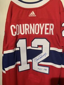 Yvan Cournoyer Signed Canadiens Jersey