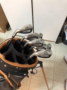 Left handed King Cobra SZ golf club IRONS OGIO bag. 475$