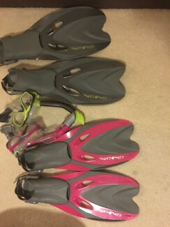 $50 for 2 snorkeling sets as new