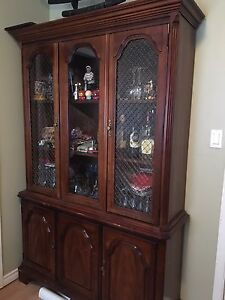 China Cabinet & Dinning Table Set