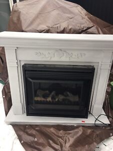 Fireplace mantle and insert