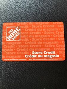 $507 Home Depot Store Credit. Gift Card