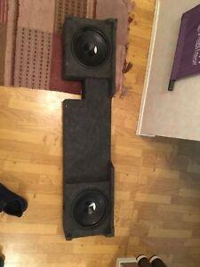 "2 Hertz 10"" subwoofers in bassworks box"