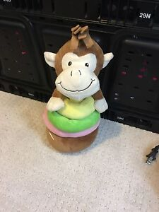 Monkey rattle toy that comes apart