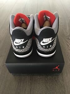 Air Jordan 3 Black Cement Sz 9.5