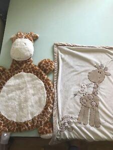Giraffe blanket and play mat
