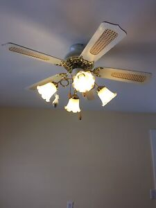 Ceiling 5 light with fan (2 of them) Peterborough Peterborough Area image 1