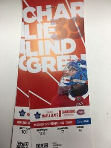 Billets Montreal vs Toronto 26 septembre