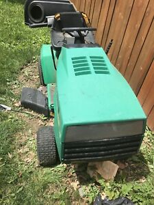 18 Hp lawn tractor and open trailer