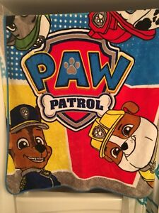 Paw Patrol bedding and toy chest