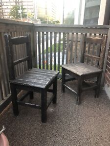 Antique hand-made wooden chairs $10 each