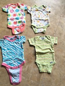 7 Newborn girl onesies new without tags