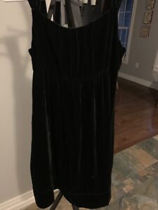 Girls GAP Black Velvet Dress