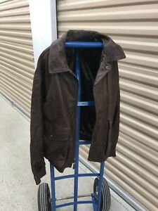 Men's Timberlands Leather Bomber Jacket size M/L