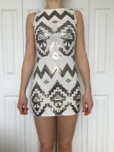 Express Sequin White Dress