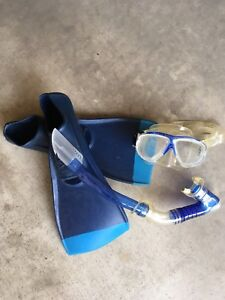 Flippers, snorkel and mask