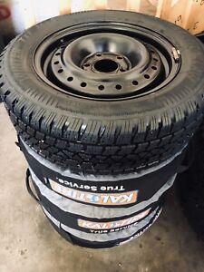 winter tires on steelies