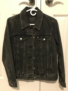 Levi's Gray Denim Trucker Jacket (Size S)