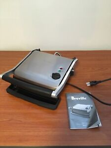 Breville Sandwich Grill countertop paninis grill w/ instructions
