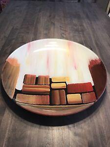 Grande assiette de table décorative (19 pouces diamètre)