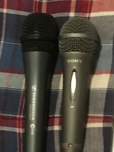 Seinheiser and Sony microphone