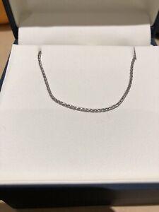 "Chaîne 18"" or blanc 14k white gold 18inch chain"