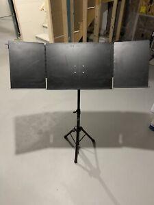 Metal, adjustable music stand