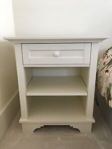 Pottery Barn Cynthia bedside table antique white