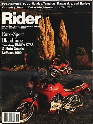 Rider - January 1987 - Touring, Sport & Street Motorcycling At Its Best -