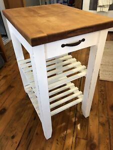 Kitchen chopping block cart