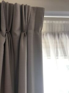 Lined curtains and rails
