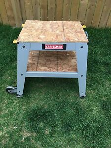MOVING - Craftsman Bench with Wheels- Must Go ASAP