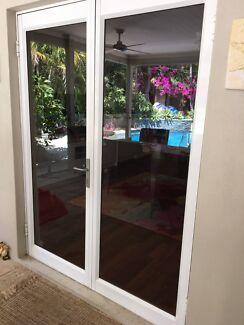 Double glass doors and windows- SOLD pending pick up & double glass door | Building Materials | Gumtree Australia Free ...