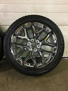 "22"" GM factory wheels, 285/45R22 Bridgestone Dueller H/L"