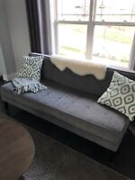 Solid wood frame sofa. Custom upholstery. From Gallery 1