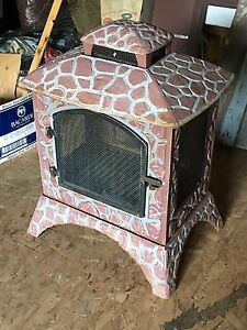 Never used outdoor fireplace
