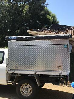 Aluminium canopy toolbox