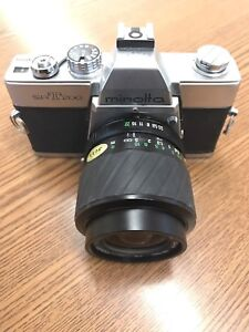 Minolta SRT200 vintage film camera with 35–70mm 1:3.5-4.8