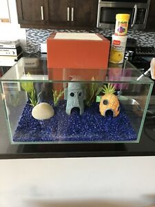 """Floating"" Infinity Fish Tank with accessories"
