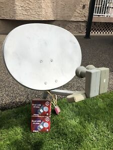 Satellite dish and HD receiver