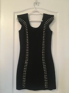 Women's black beaded dress