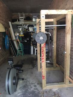 Complete home Gym inc; Rig, Weights, Rower etc