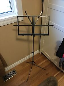 Music stand black foldable