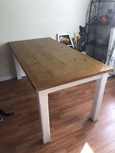 Harvest style dining room table