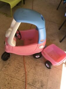 Little tikes cozy coupe and trailer