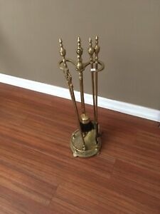 Fireplace tools - solid brass