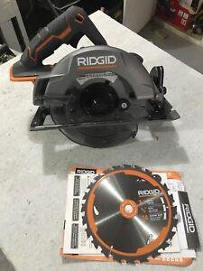"7 1/4"" Ridgid cordless circular saw"