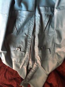 suzy light blue leather jacket