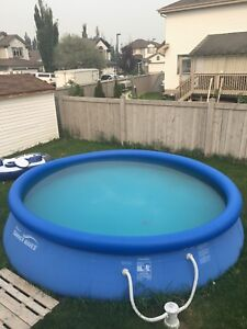 15 ft easy set pool and pump $100